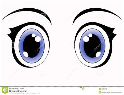imagenes de unos ojos animados ojos azules del anime stock de ilustraci 243 n ilustraci 243 n de