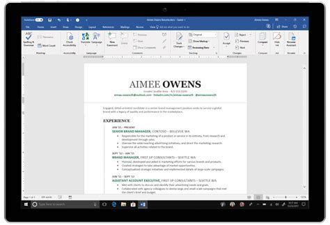 Resume Assistant by Microsoft Launches Ai Powered Resume Assistant To Office 365