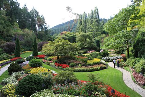 pictures of a garden butchart gardens british columbia 2008