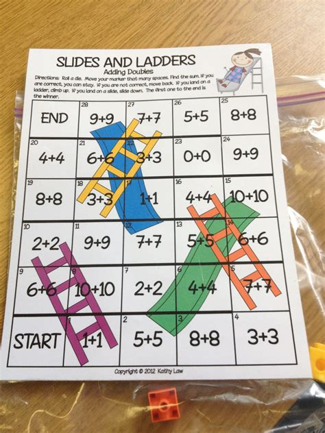 printable doubles games second grade style math games for the new school year