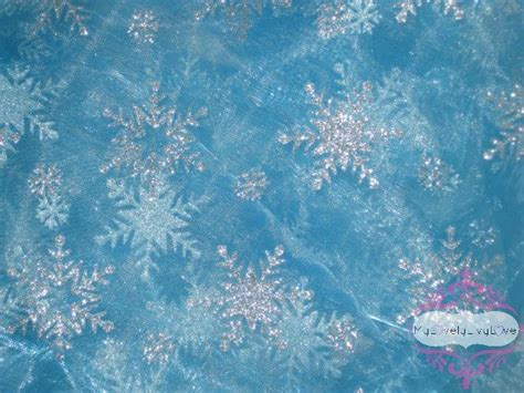 Frozen Sky Blue beautiful frozen elsa sky blue organza snowflake fabric