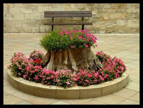Stump Planters by Tree Stump Planter Outdoor Living