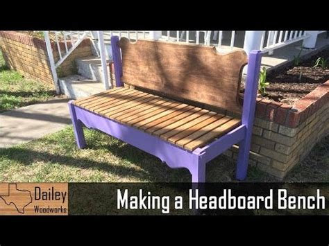 make a bench out of a headboard and footboard making a headboard bench youtube