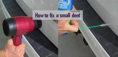 Hair Dryer Repair Dent fixing a small dent in your car paintless dent