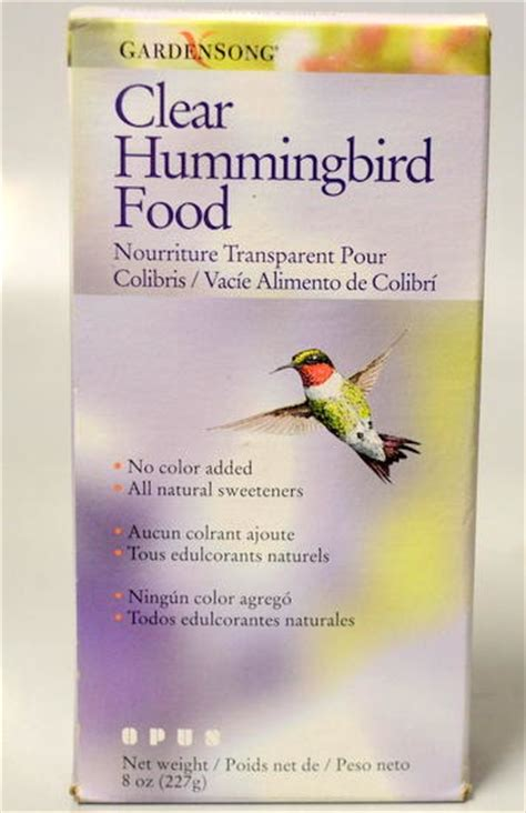 gardensong clear hummingbird food 8 oz box no color added