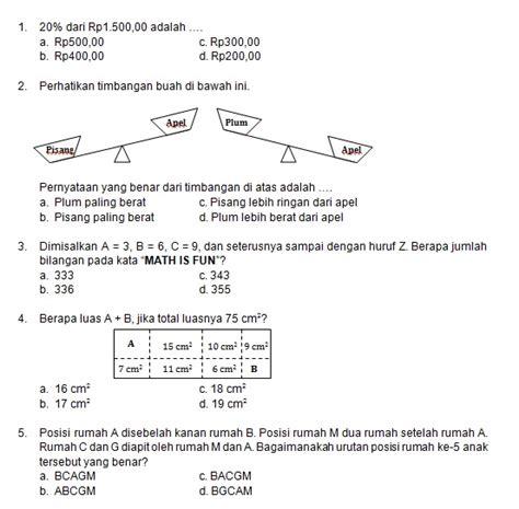 latihan soal matematika nalaria realistik paket 2 untuk kelas 5 6 republika