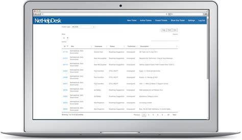 end user self service web interface help desk software