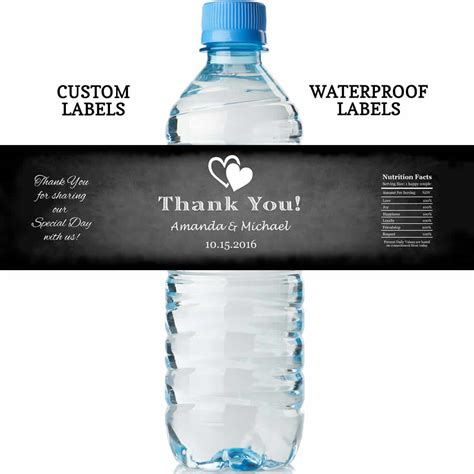 wedding water bottle labels chalkboard wedding water bottle labels water proof labels