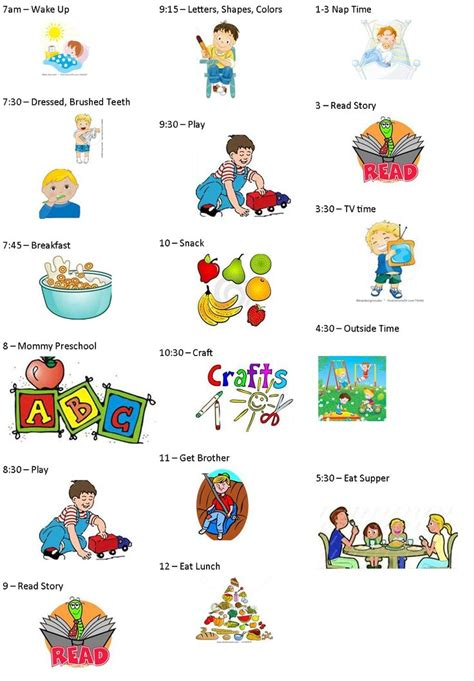 printable toddler daily schedule our 7 acres creating a toddler preschooler daily schedule