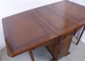 Drop Leaf Table With Storage Antique Oak Drop Leaf Table W Storage Cabinet Ebay