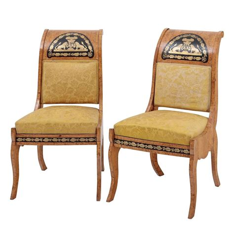 Empire Dining Chairs Pair Of Empire Dining Chairs Russia Circa 1850 At 1stdibs