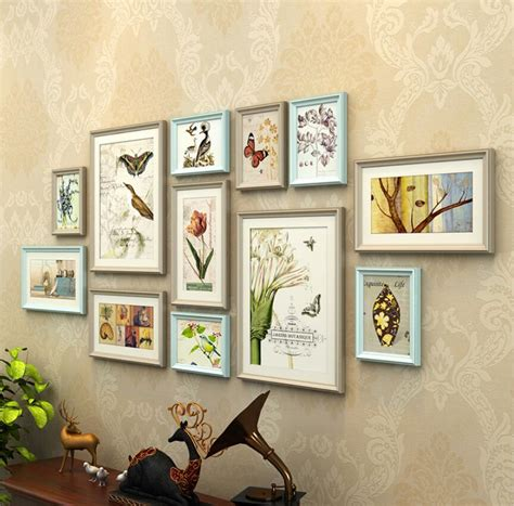 12 pcs reality wood picture photo frame wall set art work 12 pcs combination photo frames set wall decoration solid