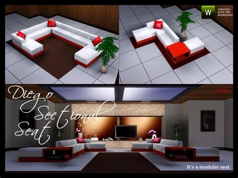Sims 3 Sectional by Jindann S Diego Sectional Seat