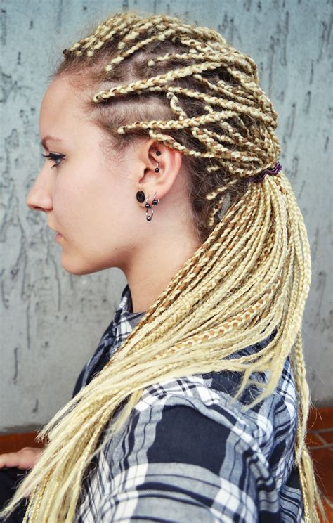 braids hairstyles blonde braids blonde rastas hair styles pinterest dreads