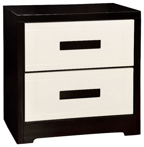 Black And White Nightstand Rutger Contemporary White Black Nightstand Contemporary Nightstands And Bedside Tables By