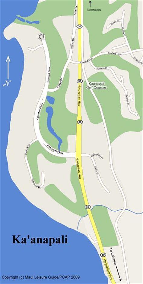 kaanapali resort map ka anapali map map of ka anapali