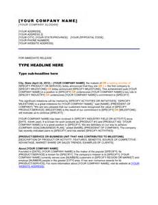 Press Release Letter Exle Press Release Company Has Reached A Milestone Template Sle Form Biztree