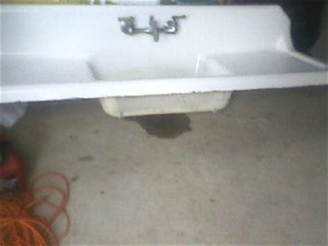 cast iron kitchen sinks for sale two vintage porcelain cast iron kitchen sinks
