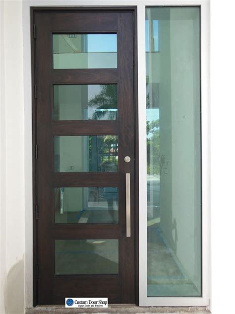 Wood Doors With Glass Inserts 1000 Images About Puertas Y Ventanas On Metal Gates Modern Front Door And Wrought Iron
