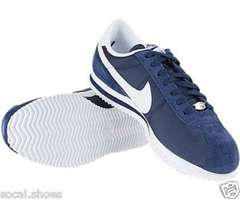 nike cortez shoes nike cortez 06 navy white 317249 413 s