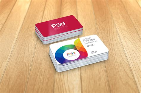 photoshop business card template rounded corners rounded corner business card mockup free psd graphics