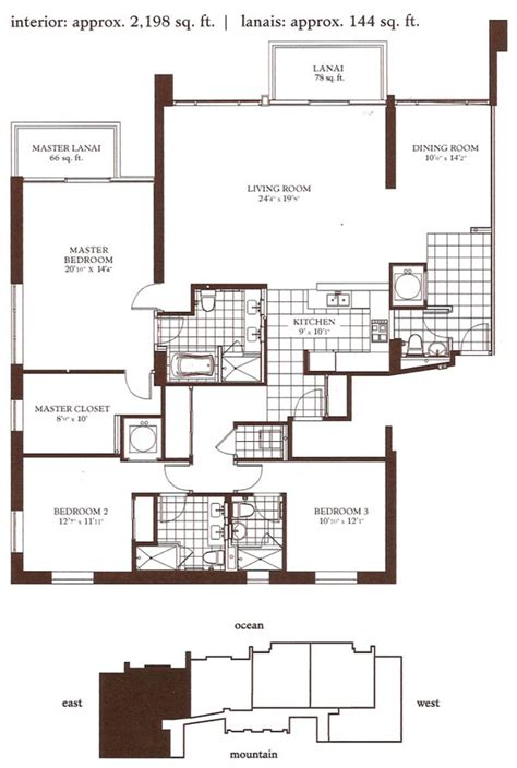 watermark floor plan watermark waikiki floor plan floorplan asp building 153