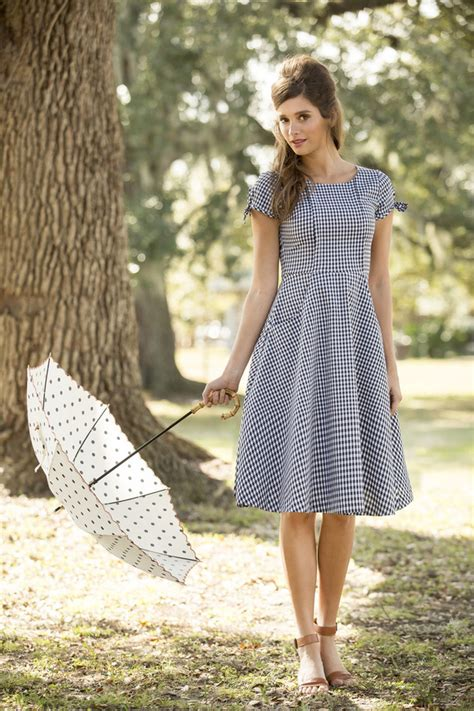 cotillion shabby apple dress black and white gingham