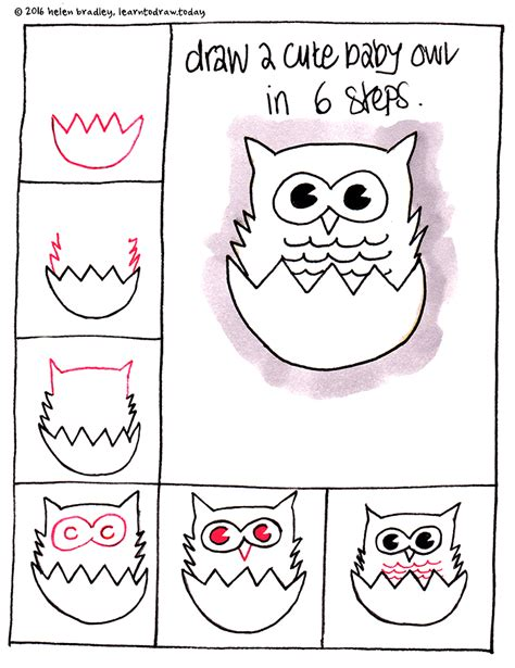 Easy Things To Draw Step By Step by Learn To Draw A Baby Owl In 6 Steps Learn To Draw
