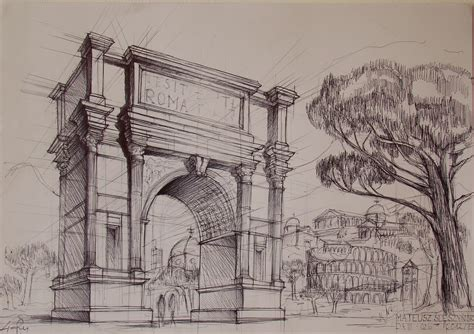 B Arch Sketches by Arch Of Titus By Samuel De Deviant On Deviantart