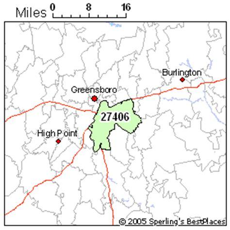 greensboro zip code map best place to live in greensboro zip 27406 carolina