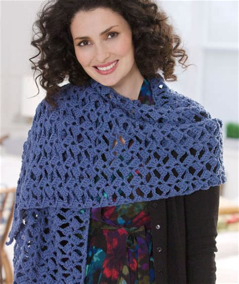 red heart yarn pattern lw2586 romantic lacy shawl red heart