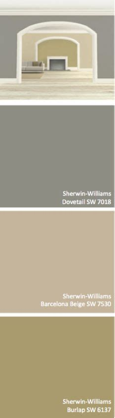 sherwin williams dovetail sw 7018 barcelona beige sw 7530 burlap sw 6137 for the home