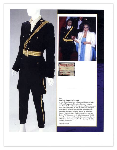 Michael Jackson Costumes Up For Auction by Michael Jackson S Costume Worn At 1986 American