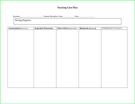 nursing plan template search results for format of a nursing care plan
