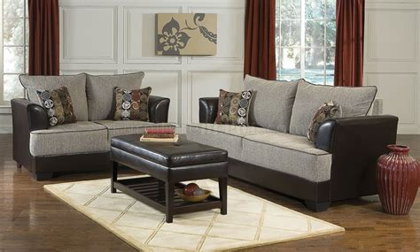two tone living room two tone contemporary living room w soft honey fabric seats