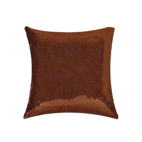 Cushions For Brown by Brown Sequin Cushion Cover
