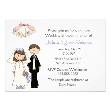 Groom And Bridal Shower by And Groom Couples Wedding Shower Invitation 5 Quot X 7