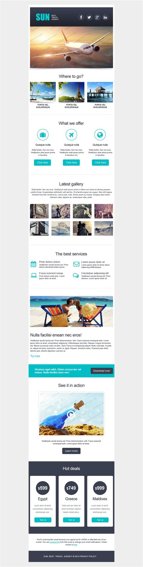 newsletter layout templates free free responsive email template