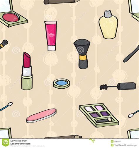 makeup cartoon wallpaper cartoon cosmetics seamless background stock vector image