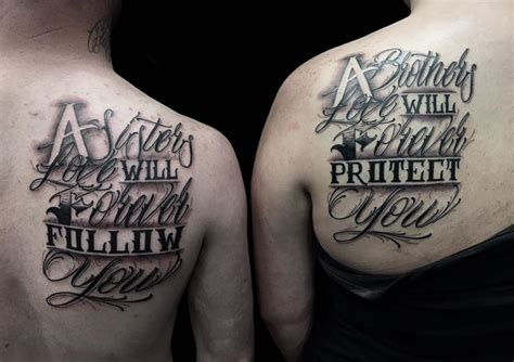 matching brother tattoos 59 cool sibling ideas to express your sibling