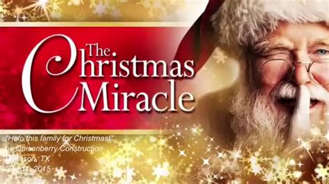 libro the christmas miracle of the christmas miracle in burleson tx we need you youtube