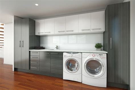 Timberline laundry cupboards