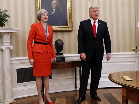 president trump oval office in meeting with trump u k prime minister pushes for