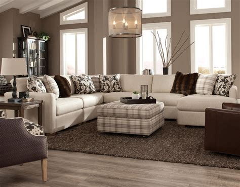 5 piece sectional sofa with chaise craftmaster 751100 five piece sectional with raf chaise