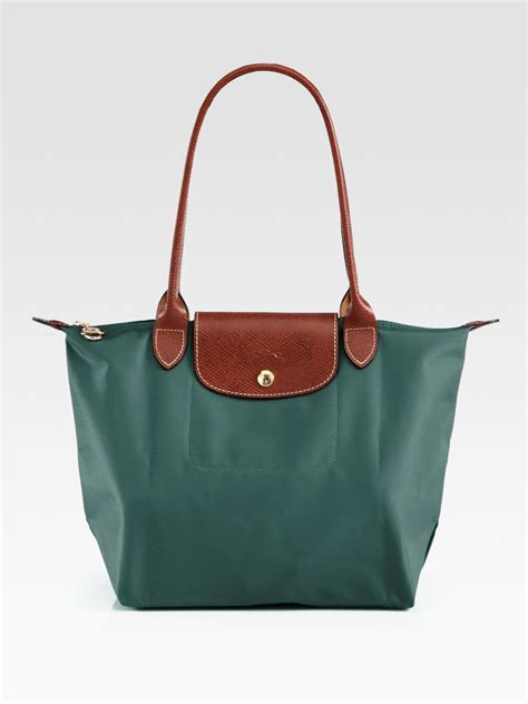Le Pliage Green Msh longch le pliage medium shoulder tote in green lyst