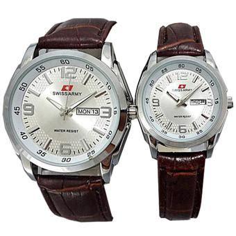 Jam Tangan Swatch Coklat harga swiss army jam tangan pria tali kulit