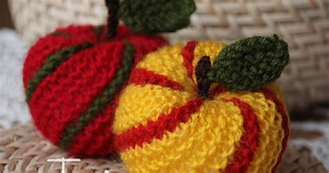 knitted apple pattern knitting pattern minishop striped apple ornament