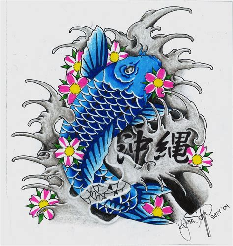 blue koi by ryanschipper89 on deviantart