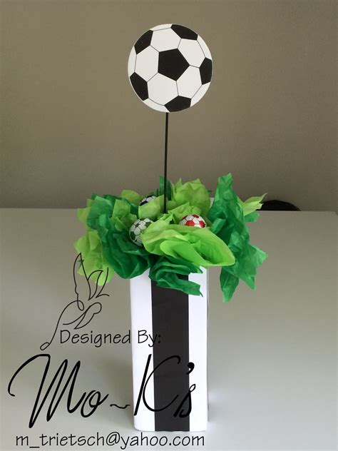 soccer centerpiece party wedding decorations ideas baby