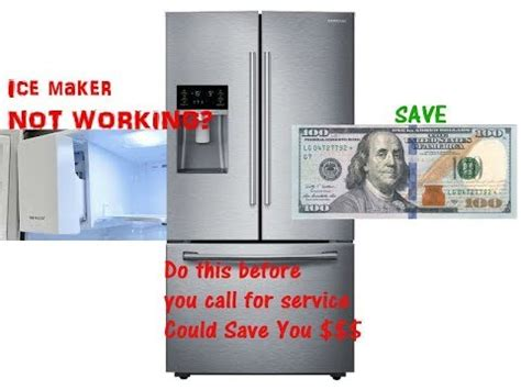 reset samsung ice maker how to reset ice maker for samsung refregerator youtube